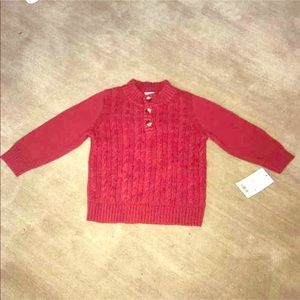 Other - Baby Cat & Jack Red Baby Boy Sweater 12M NWT
